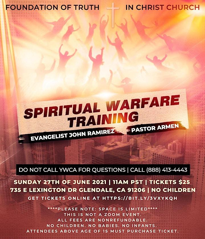 Spiritual Warfare Training With Evangelist John Ramirez & Pastor Armen image