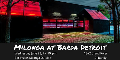 Milonga this Wednesday at Barda Detroit tickets