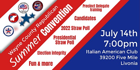 United Wayne County Republican County Convention tickets