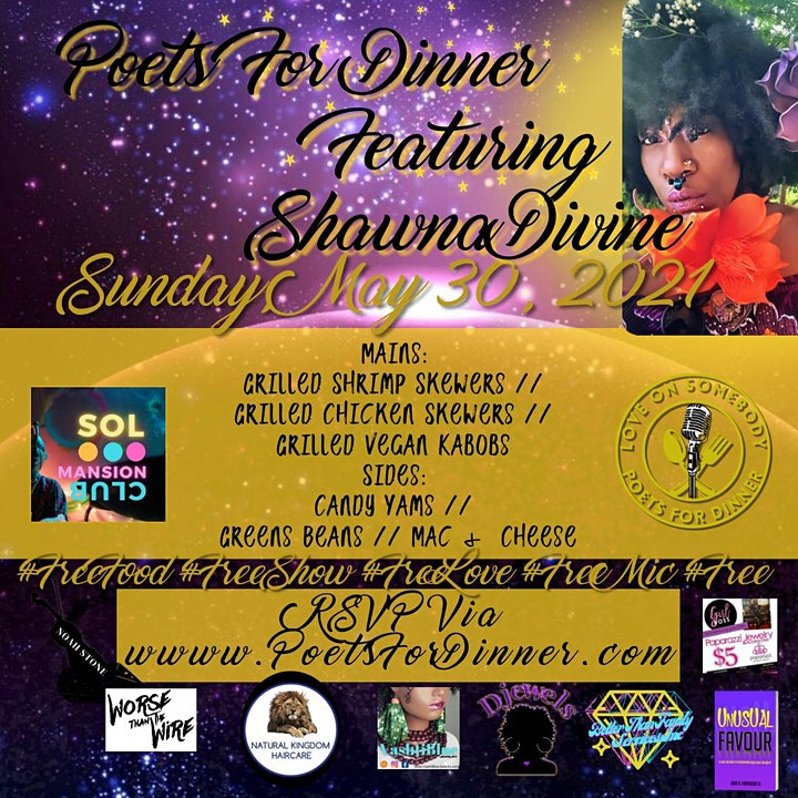 Poets For Dinner: Jun Jubilee Featuring Shawna Divine image