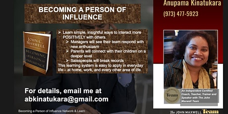 MasterClass for Managers - Becoming a Person Of Influence ZNDKIN 202107 billets