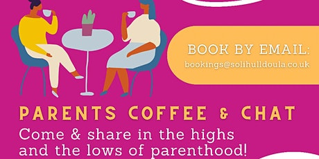 Parents coffee and chat tickets