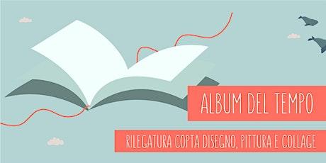 Album del tempo con rilegatura copta a mano biglietti