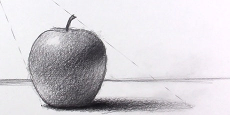 60min Pencil Sketching Art Lesson - Apple @3PM (Ages 6+) tickets