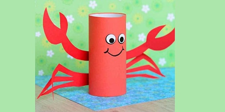 45min Learn to Craft: Paper Roll Crab @2PM  (Ages 5+) tickets