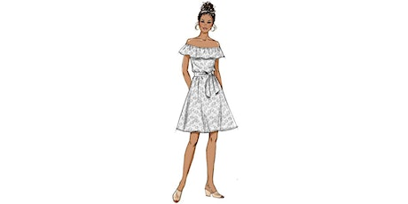 60min Fashion Sketching  Lesson - White Dress @3PM (Ages 7+) tickets