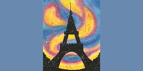 60min Learn to Paint a Scenery: Paris Eiffel Tower @1PM  (Ages 6+) tickets