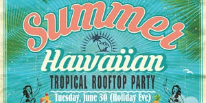Summer Hawaiian Rooftop DJ Party