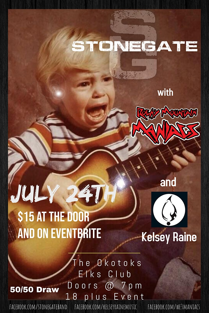Stonegate w/Special Guests the Rocky Mountain Maniacs & Kelsey Raine image