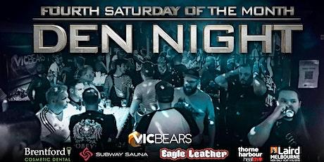 VicBears - Den Night: Unlocked tickets