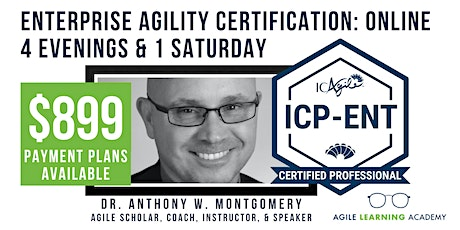 ICAgile Mastering Agility in the Enterprise (ICP-ENT) | Online | Aug 2-7 tickets
