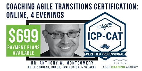 ICAgile Coaching Successful Agile Transitions (ICP-CAT) | Online | Aug 9-12 tickets