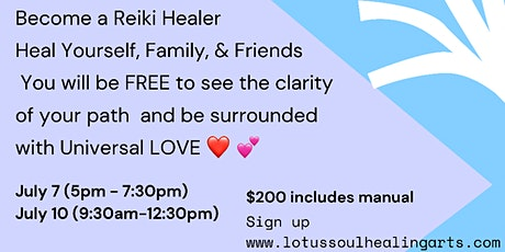 Usui/Holy Fire III Reiki Level 1 Live Online Zoom tickets