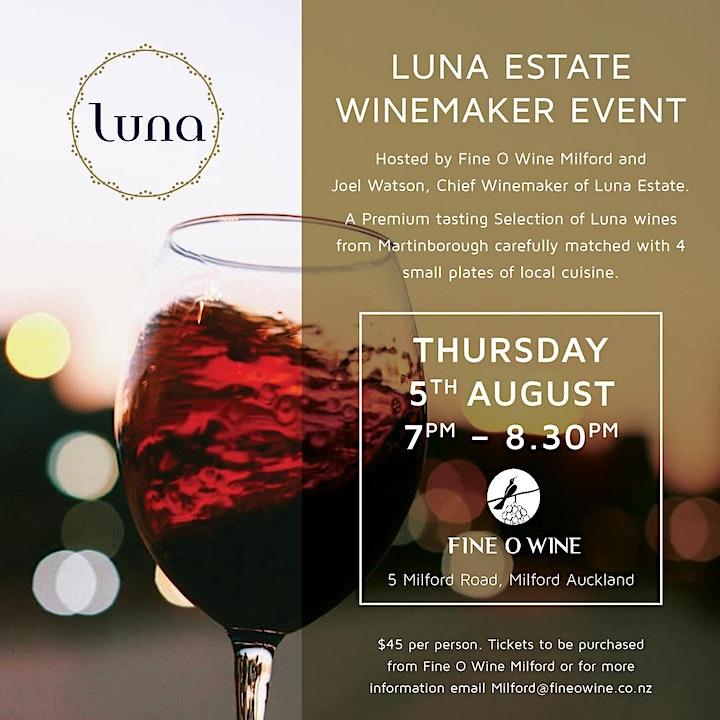 Luna Estate Wine Makers Wine Night image