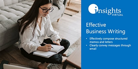 Effective Business Writing Webinar tickets