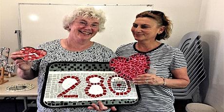 Ceramic Mosaic tile  tray workshop tickets