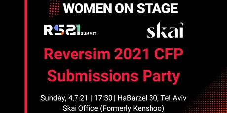 Reversim 2021 CFP Submissions Party tickets