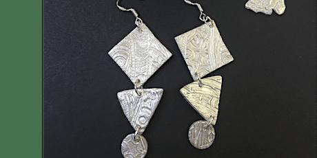 Silver earring workshop tickets