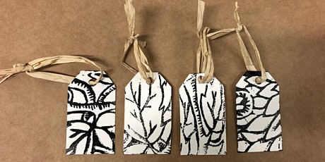 Linocut Gift Tags & Cards tickets