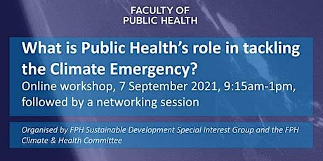 What is Public Health's role in tackling the climate emergency? tickets