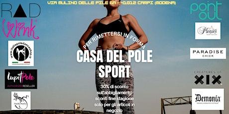 Shopping Moda e attrezzature Danza Atletica e Pole biglietti