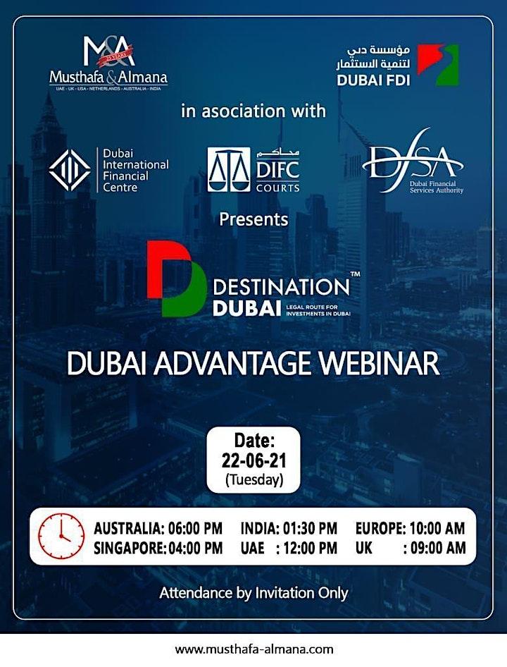Destination Dubai - Dubai Advantage Webinar image