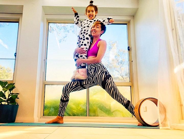 Family yoga workshop image