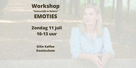 """Emoties """"Natuurlijk in Balans"""" Workshop tickets"""