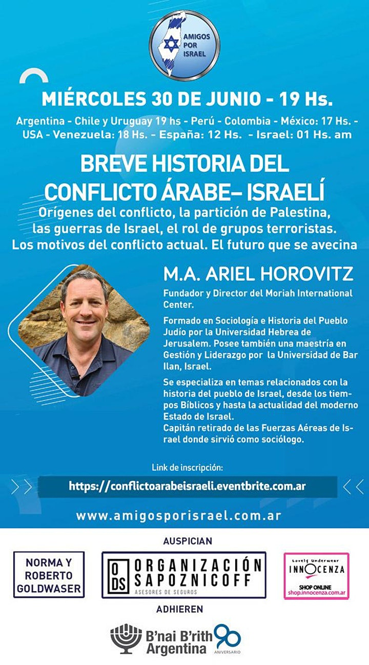 Imagen de BREVE HISTORIA DEL CONFLICTO ÁRABE– ISRAELÍ