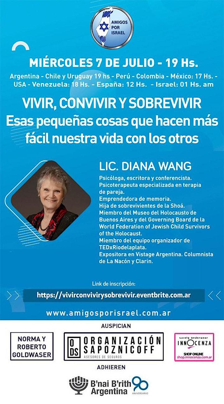 Imagen de VIVIR, CONVIVIR Y SOBREVIVIR con la LIC DIANA WANG