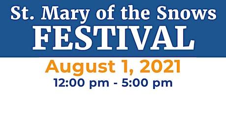 St. Mary 2021 Festival Raffle & Dinner tickets