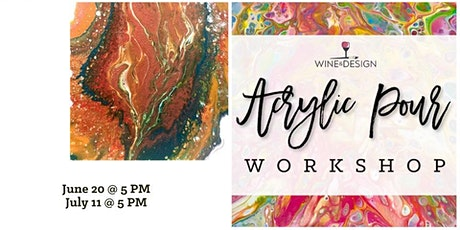 In-studio Acrylic Pour Design Class - Featuring Kim Miller tickets