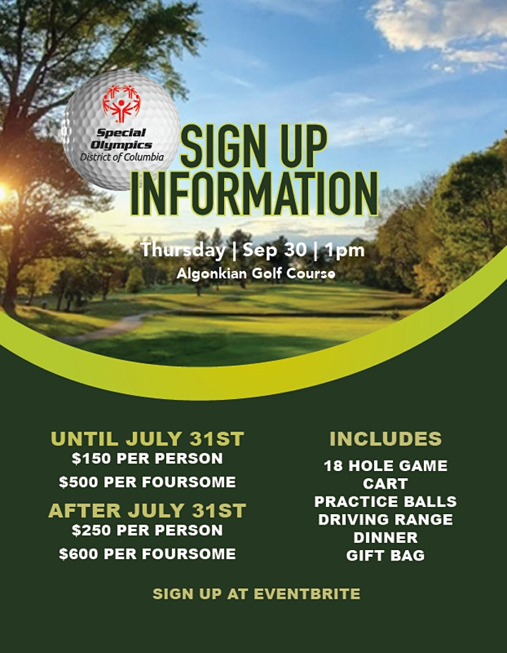 4th Annual Special Olympics District of Columbia Golf Scramble image