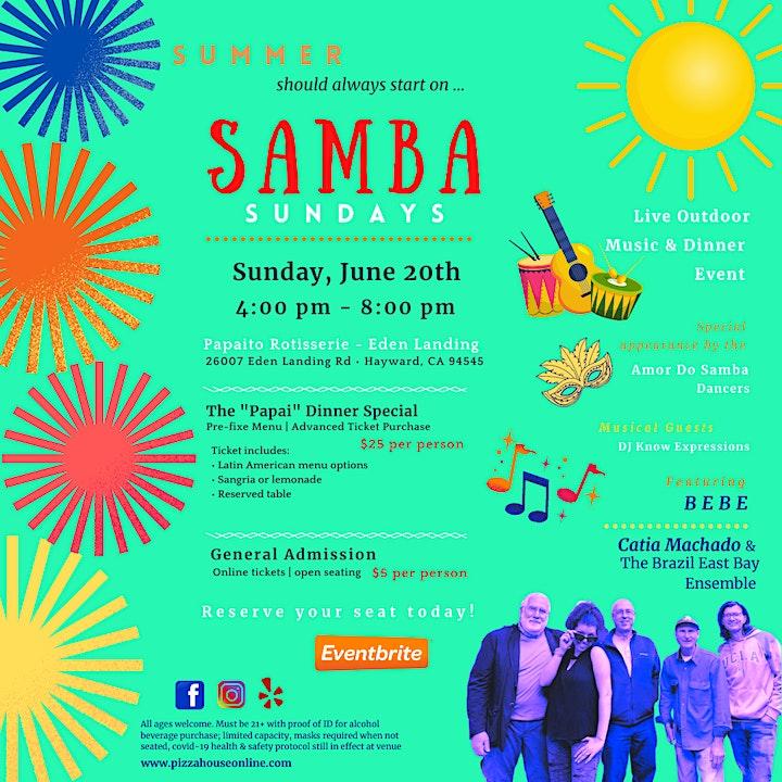 Samba Sunday - Music & Dinner image