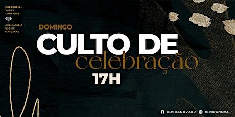 CULTO DE CELEBRAÇÃO 20JUNHO - 17H ingressos