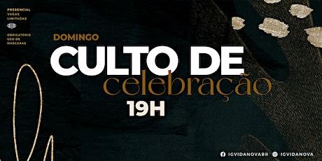CULTO DE CELEBRAÇÃO 20JUNHO - 19H ingressos