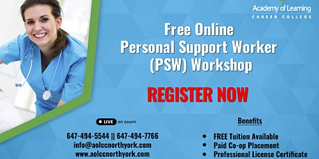 FREE Personal Support Worker  (PSW) Workshop tickets