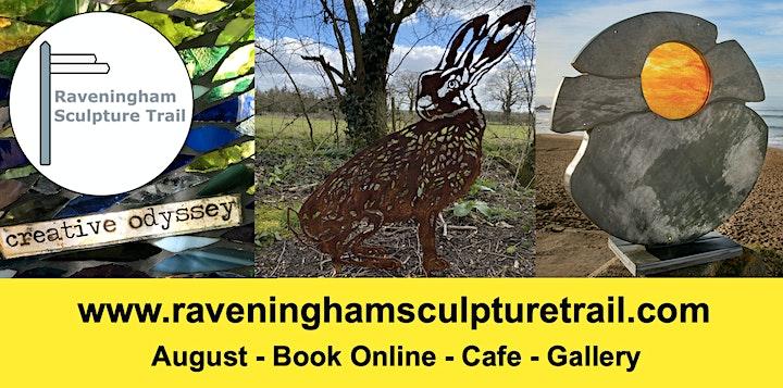 Raveningham Sculpture Trail 2021, 2.40-4pm, book 1 timeslot per  group. image