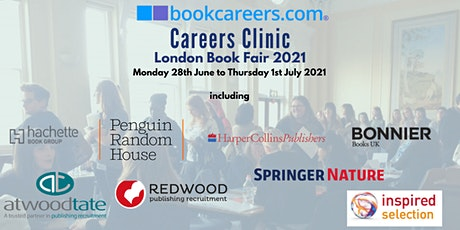 bookcareers.com Virtual Careers Clinic 2021 @ London Book Fair tickets