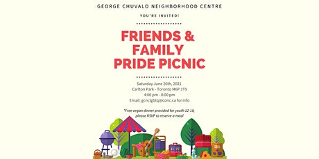 Family and Friends Pride Picnic Free Youth Lunch (12-18) tickets