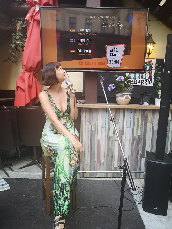 Beat the Sunday Blues - English Stand up Comedy on the terrace at Mi barrio image