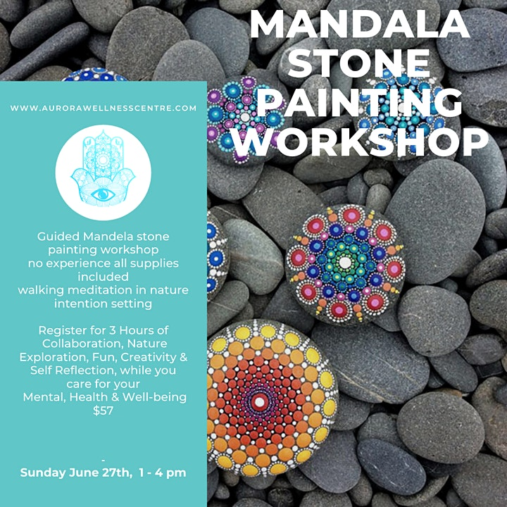 Mandala Stone Painting NURTURE THROUGH NATURE RETREAT image