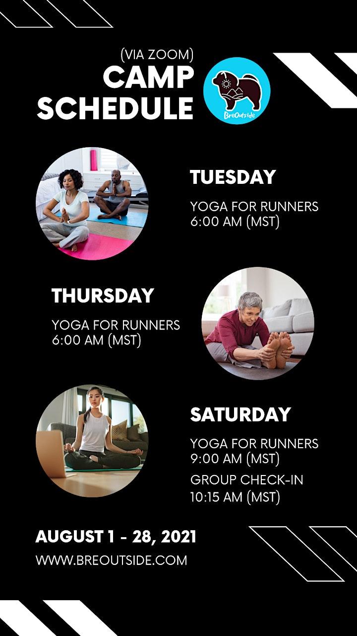 BreOutside Yoga Running Camp (Aug. 1 - 28) image