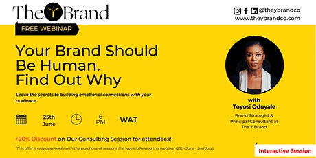 Your Brand Should Be Human. Find out why tickets