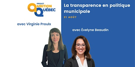 Formation - La transparence en politique municipale tickets