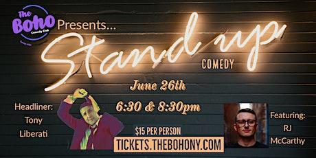 June 26th Comedians:  Tony Liberati & RJ McCarthy tickets