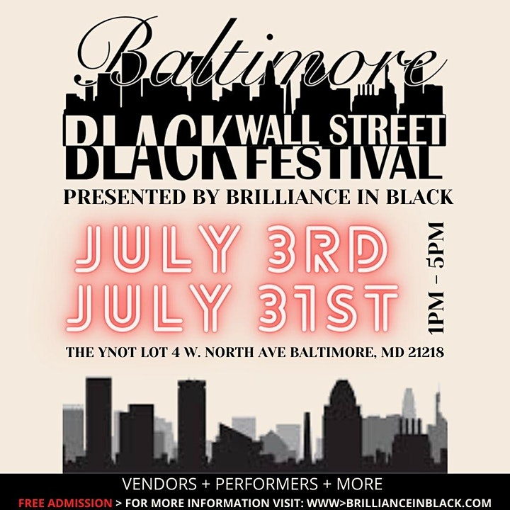 Brilliance in Black Baltimore Black Wall Street Festival image