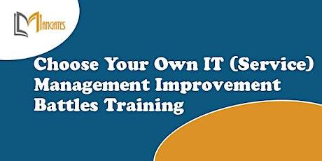Choose Your Own IT (Service) Management Improvement Battles - Darwin billets