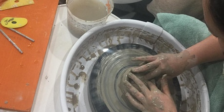 Sip and Throw on the Pottery Wheel Party - 2 hour pottery lesson tickets