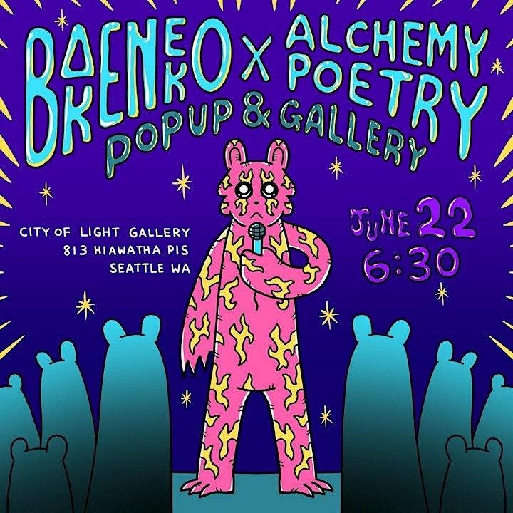 "BAKENEKO x ALCHEMY POETRY Presents ""Share The Love"" image"